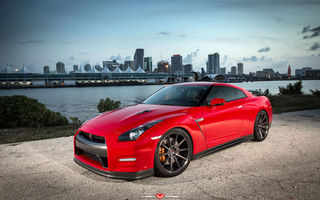 Обои Vossen Wheels, wheels, город, auto, авто, машина, диски, Nissan, GTR