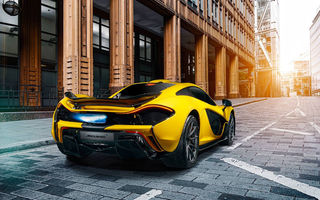 Картинка McLaren, Fire, Rear, Supercar, Yellow, Exhaust, P1