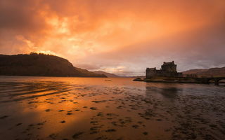 Картинка Kyle of Lochalsh, Sunset, Scotland