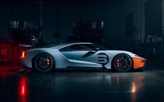 Картинка Ford, суперкар, supercar, 2020, Ford GT Gulf Racing Heritage Edition, Форд, Ford GT