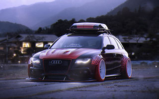Обои Audi, Low, Avant, Tuning, Future, Car, A4, by Khyzyl Saleem, Stance