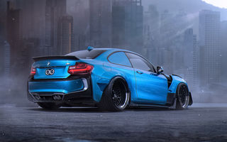 Обои BMW, Future, Blue, by Khyzyl Saleem, Body, Sport, Kit, Tuning, Car, M2
