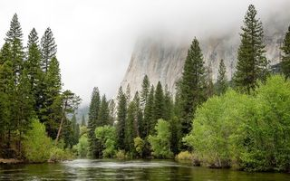 Картинка United States, California, Spring Flood, Yosemite Village