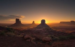 Картинка закат, Юта, Долина монументов, Sunset, Utah, Monument Valley
