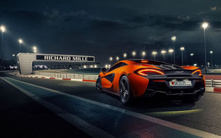 Обои McLaren, Power, 570S, Race, Orange, Track, Supercar