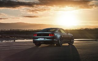 Обои Ford, Velgen, Muscle, Sunset, Rear, GT, Wheels, 2015, Mustang, Beam, Car