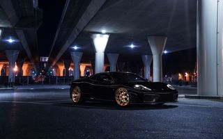 Обои Ferrari, Black, 360, Bridge, Aristo, Nigth, Modena, Front, Collection, Dark