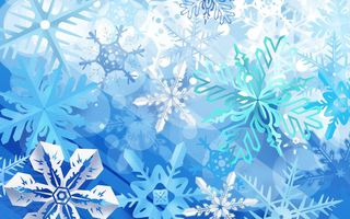 Обои синий, зима, snowflakes, blue, winter, снежинки