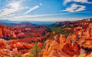 Обои США, Bryce, скале, Утес, Небо, скалы, Парки, Скала, Природа, Пейзаж, Park, Canyon, National, штаты
