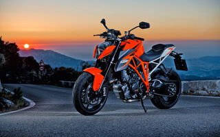 Картинка закат, мотоцикл, KTM 1290 Super Duke R, sunset, motorcycle, bike, KTM
