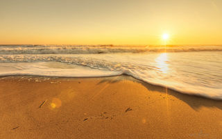 Обои sand, landscape, sky, ocean, sunset, sky, nature, beautiful, sunrise, sea, scenery, beach, sun