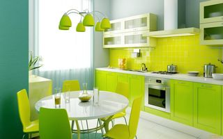 Картинка Yelow, Blue, Laym, Kitchen, Green, Style