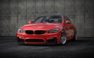Картинка BMW, M4, stance, 2018 cars, red, tuning, f82