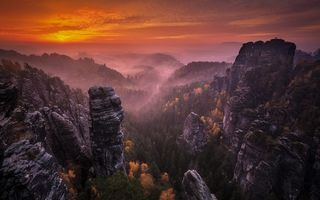 Обои Landscape, Sunset, Landscape, Mountai, Nature » nature