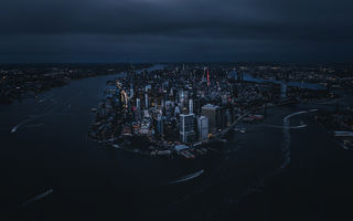 Обои Manhattan, New York City, ночь, город