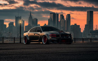 Картинка Dodge, Dog, Hellcat, SRT, Charger, With