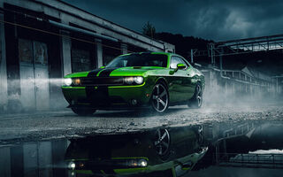 Картинка Green, Challenger, Dodge