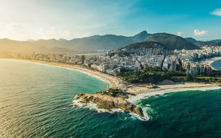 Обои пляж, город, бразилия, arpoador, копакабана, ipanema beach, aerial view, ипанема, copacabana beach, рио-де-жанейро, latin america