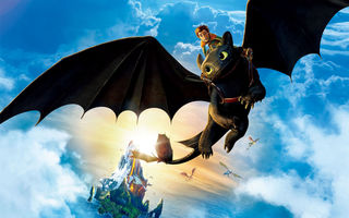 Картинка hiccup, toothless, riding