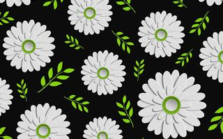Обои цветы, leaves, design, colorful, green, Tekstura, чёрный, Floral