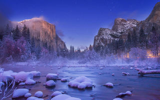 Картинка Yosemite Nation Park, usа, Christmas Valley View