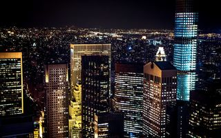 Картинка Nyc, manhattan, ночь, new york city