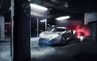 Картинка Lykan hypersport, supercar, свет фар