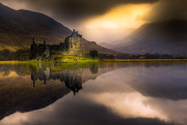 Обои Scotland, Kilchurn castle, Loch Awe