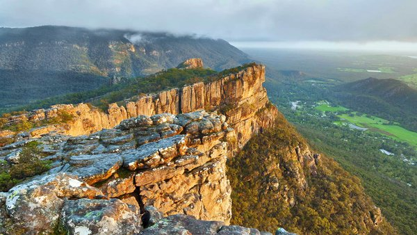 Обои горы, скалы, Австралия, Виктория, долина, Grampians National Park