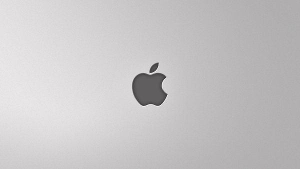 Обои apple, mac, серый