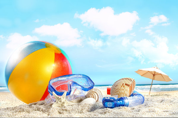 Обои пляж, sea, clouds, небо, море, Shells, sky, nature, beach, ball, облака, sand