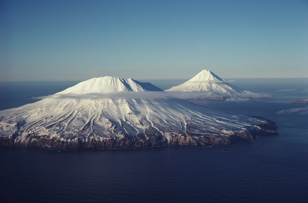 Обои mountains, aerial view, alaska
