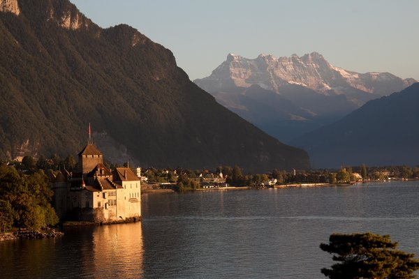 Обои lake, geneva, chillon, switzerland, castle