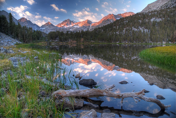 Обои usa, sunrise, heart lake, california, rock creek