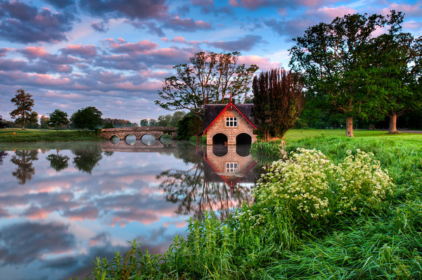 Обои ireland, kildare, carton boat house