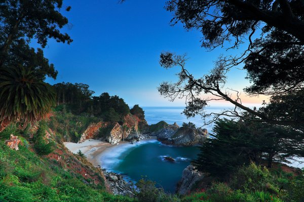 Обои McWay Falls, Big Sur, Julia Pfeiffer Burns State Park, California