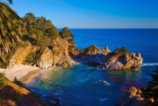 Обои McWay Falls, California, Big Sur, Julia Pfeiffer Burns State Park