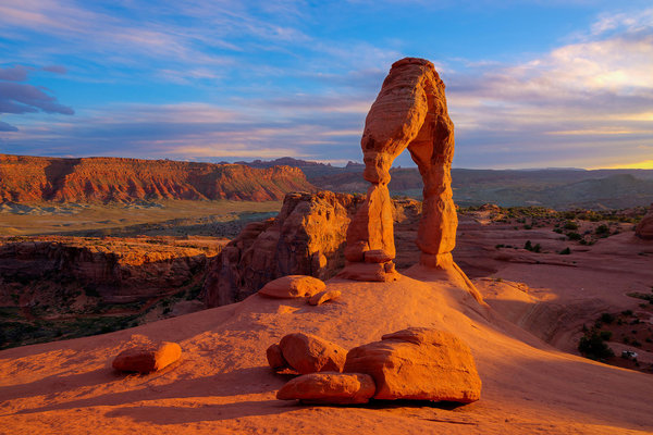 Обои Delicate Arch, Arches National Park, скалы, горы