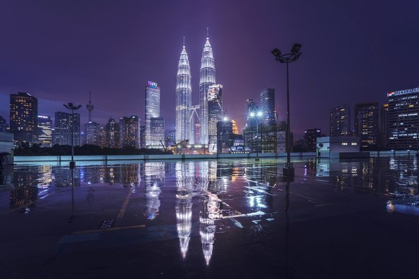 Обои Petronas Twin Towers, Куала-Лумпур, Малайзия