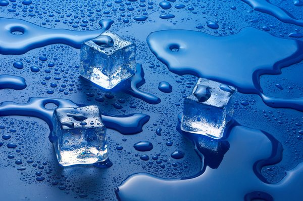 Обои water, Ice cubes, solid state, liquid