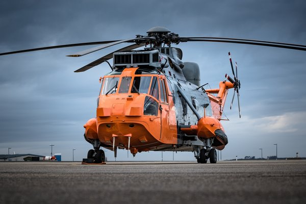 Обои аэродром, лопасти, вертолет, Sea King, Sikorsky S-61