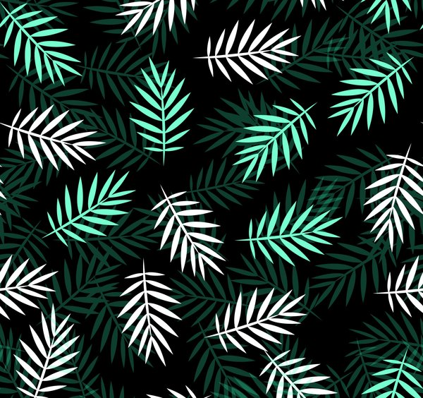 Обои white, green, leaves, текстура, pattern