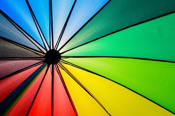 Обои радуга, rainbow, цвет, colorful, colors, umbrella, зонт