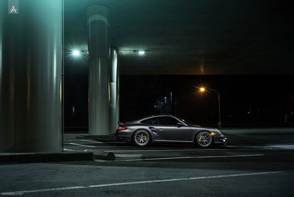 Обои Porsche, Nigth, Collection, 911, Forged, Aristo, Turbo, Side, Ligth