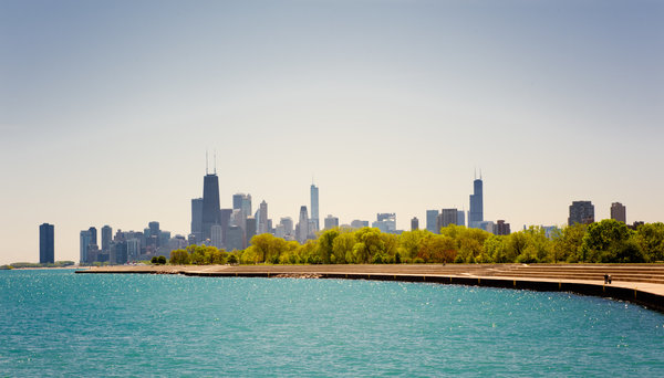 Обои чикаго, америка, chicago, illinois, небо, usa, небоскребы