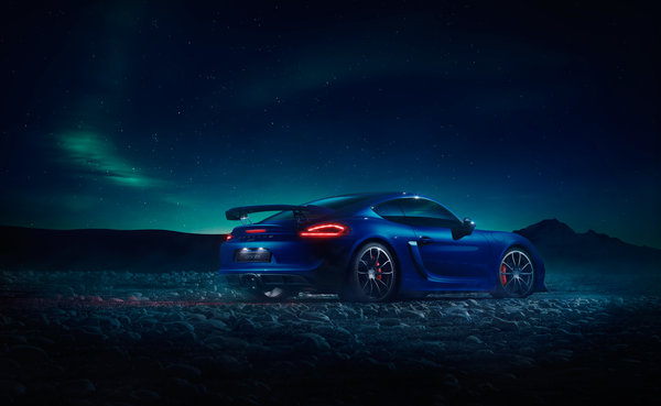 Обои Porsche, GT4, ночь, Northern Lights