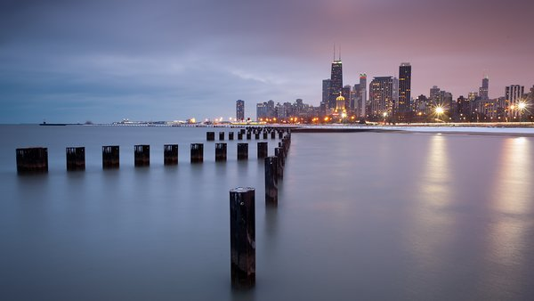 Обои chicago, lakefront, trail