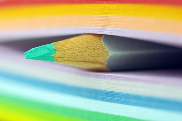 Обои sticky notes, colorful, Pencil