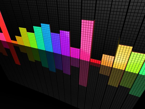 Обои perspective, Colorful, equalizer