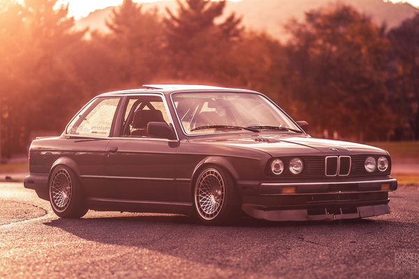 Обои 3 series, White, evoked photography, Bmw